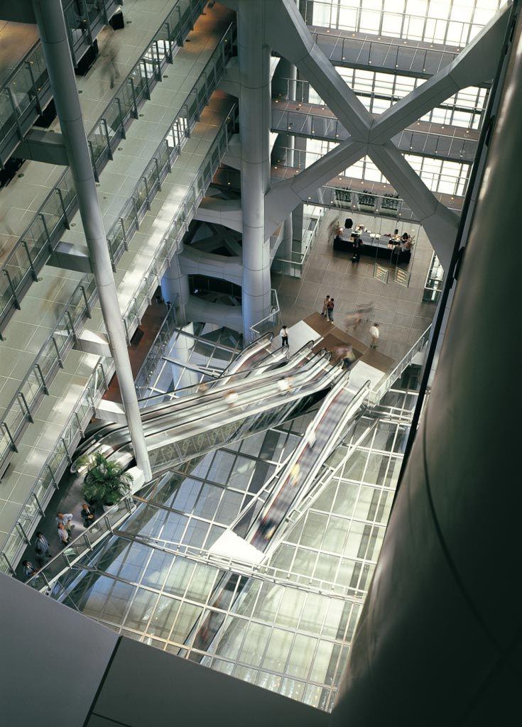 Escaleras Entrada Foster Banco de HongKong