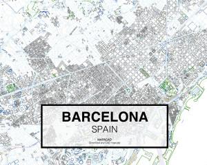 Cartografia BARCELONA dwg completa